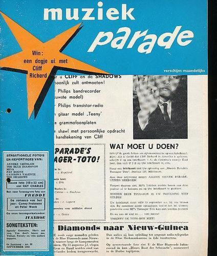 66-September 1962-CLIFF RICHARD 3 - ANNEKE GRONLOH 2 - CONNY AND PETER 2 - PAT BOONE 1/4 - CATERINA VALENTE 1/3 - REX GILDO 1 - DORIS DAY 1 - RAY CHARLES 2 - PAT BOONE - HELEN SHAPIRO 1/4 - FRANK SINATRA DEAN MARTIN 1/4 - PERRY COMO 1/4.
