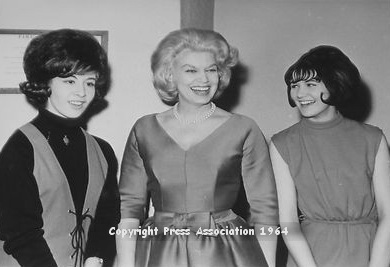 Helen with  Jane Morgan and Linda Laine during rehearsals for the BBC Radio programme 'Pop Inn' 1964.